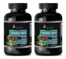 L.Acidophilus - CANDIDA AWAY COMPLEX 1275 mg - Antioxidant - 2 Bottles