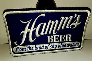 MINT VINTAGE 1950s HAMM'S BEER Patch Sign Old Truck Driver Delivery Shirt Jacket