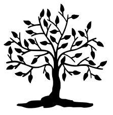 Silueta de árbol Pegatina de Vinilo Calcomanía/