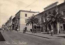 0091) OLBIA (SASSARI) CORSO UMBERTO. ANIMATA, EDICOLA. VIAGGIATA NEL 1956.