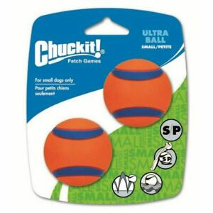 Chuckit Ultra Ball - High Visibility - Durable - 4.8cm - 2 Pack - Small