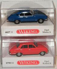 "WIKING""Opel Manta A blau & Opel Kadett B rot - 082711 - 079004""1:87"