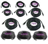 Cat5 CAT5e Rj45 Patch Cable Black Ethernet Lan Modem Ethernet LAN Network PC Lot
