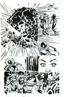 Unity #24 page 12 Original Art Valiant Comics 2015 Livewire Gin-Gr Armor Hunters