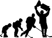 Evolution of a Hockey Player Window Decal