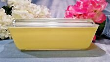 ~NEAR MINT OLD VINTAGE 503  LID RIBBED YELLOW PRIMARY PYREX REFRIGERATOR FRIDGIE