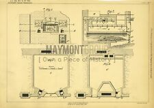 Baking Ovens Kidman Original Patent Lithograph 1888