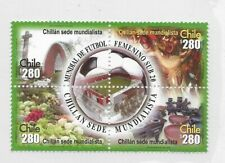 CHILE YEAR 2008, SOCCER FEMALE CHAMPIONSHIP, 4 VALUES IN BLOCK, SPORTS, MINT NH