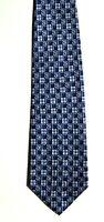Men's New Silk Neck Tie, Classic, Blue check design by Laurant Benon