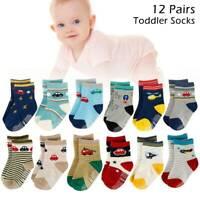 12 paires de chaussette pr tout-petit, chaussettes anti-dérapantes mélange G