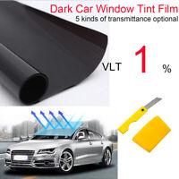 Window Tint Film Black Roll 1% VLT Car Auto Home 76cm X 6m Tint Tools SUPER DARK