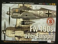 Kagero Book: Fw 190s over Europe pt 1 - 16 pages, 8 painting schemes in 3 scales