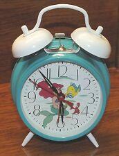 *FOR PARTS* Walt Disney Sunbeam (883-146) The Little Mermaid Green Wind Up Clock