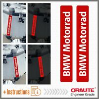 2x BMW Motorrad Red REFLECTIVE ADESIVI PEGATINA R 1200 1150 F800 F650 F700 GS