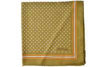 E. Marinella 100% Silk Scarves Tuch Pocket Hankerchief Tissu  vert Soie   44x44