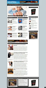 FAMILY SELF DEFENSE AFFILIATE WEBSITE WITH NEW DOMAIN AND HOSTING + SSL CERT