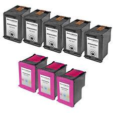 8 CC641WN Black & Color Ink Cartridge for HP 60XL 60 Deskjet F2400 D2660 F2420