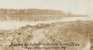Foto Blick von Infanterie Stellungen auf die Düna Üxtül 1917 Original Foto 1.WK
