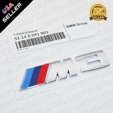 E90 E91 E92 Chrome M3 Logo Emblem Badge Car Rear Trunk OEM ABS M Performance 901