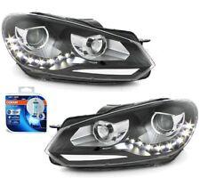 LED Tagfahrlicht Scheinwerfer VW Golf 6 VI 08-13 schwarz mit Osram H7 Cool Blue