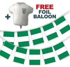 Football World Cup 2018 Set - Nigeria Flags - bunting + free foil balloon