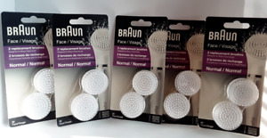 x10 BRAUN Replacement Face Brushes NORMAL #80 - 2pk (LOT OF 5 = 10 TOTAL)