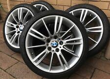 """GENUINE BMW 18"""" * M Sport * E90 E92 E46 3 - Series Wheels Tyres - STAGGERED SET"""
