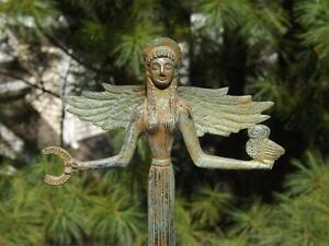 Bronze Figurine Greek Goddess of Achievement Nike Italy