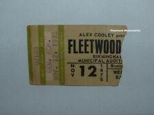 Fleetwood Mac 1975 Concert Ticket Stub Birmingham Buckingham Stevie Nicks Rare