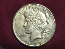 "1928-P Morgan Silver Dollar                       ""XF""             Rare Key Date"