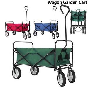Heavy Duty Foldable Garden Trolley Folding Cart Wagon Truck Picnic Fishing
