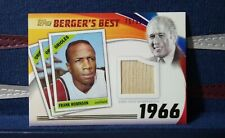 FRANK ROBINSON 2016 Topps Berger's Best Relics 1966 Game-Used Bat #d /99 Orioles
