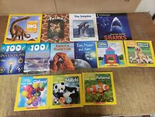 Lot of 25 Science Nature Experiment Geographic Animal Educate Children Books KG1