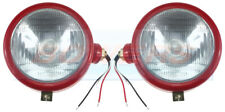 PAIR OF CASE INTERNATIONAL 444 B250 B275 B414 TRACTOR RED HEADLIGHTS HEADLAMPS