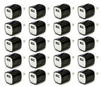 20x Black 1A USB Power Adapter AC Home Wall Charger US Plug FOR iPhone 5 6 7 8 X