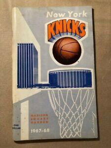 NBA New York Knicks 1967-68 Press Guide Media Guide Yearbook
