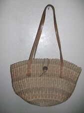 VINTAGE JUE BAG WITH LEATHER STRAPS, LARGE