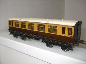 Vintage Hornby Meccano O gauge No2 GWR 1st/3rd corridor coach