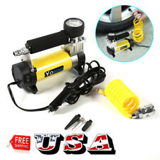 100PSI 12V Portable Air Compressor Auto Car Electric Tire Air Inflator Pump US