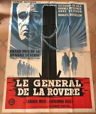 Cinema-affiche originale- LE GENERAL DE LA ROVERE- 120x160-Rossellini-De Sica