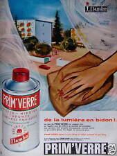 PUBLICITÉ 1964 PRIM'VERRE PRODUIT D'ENTRETIEN FLAMBO - ADVERTISING
