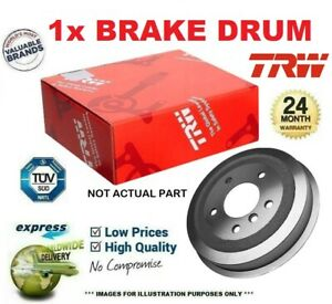 1x TRW BRAKE DRUM for DAEWOO LANOS Saloon 1.5 1997->on