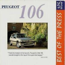 Peugeot 106 Press Reviews 1994 UK Market Foldout Sales Brochure