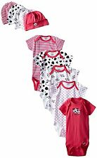 Gerber Baby-Girls 10-Piece Newborn Dalmation Onesie and Cap Bundle Gift Set 0-6M