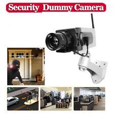 Dummy Dome Fake Home Outdoor Surveillance Security Camera CCTV Cam+Red LED Light