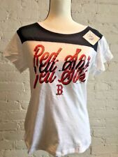 Boston Red Sox Women's Short Sleeve White Graphic Tee XL