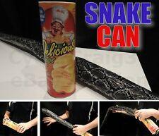 SNAKE IN PRINGLES STYLE POTATO CHIP CAN TUBE CRISP MAGIC TRICK KID MUM GAG PRANK