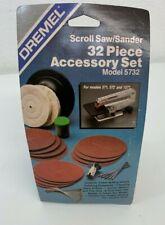 Dremel 5732 Scroll Saw / Sander 32 Piece Accessory Kit, Blades Wheels Grit Discs