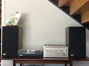 VINTAGE Pioneer AMPLIFIER Receiver + PL-516X TURNTABLE Record Player + SPEAKERS