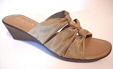 BRAND NEW ITALIAN SHOEMAKERS Size 12M Beige Mule Wedge Heel Sandal Shoes